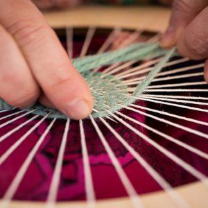 frame, weaving, lana